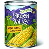'Green Valley Organics Whole Kernel Supersweet Corn, 15 Ounce (Pack of 12)' from the web at 'https://images-na.ssl-images-amazon.com/images/I/51ET-UvnVxL._AC_SR160,160_.jpg'