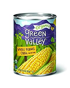 Green Valley Organics Whole Kernel Supersweet Corn, 15 Ounce (Pack of 12)