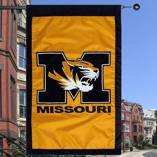 NCAA Missouri Tigers Gold 28'' x 44'' Team Logo Applique Flag (Logo Tigers Applique)