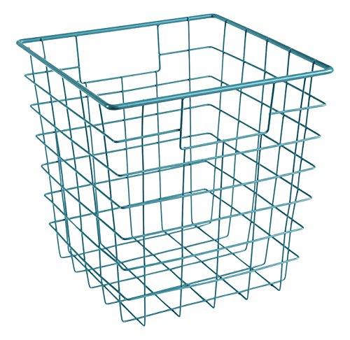 ClosetMaid 13031 Cubeicals Wire Storage Bin with Handles, Blue