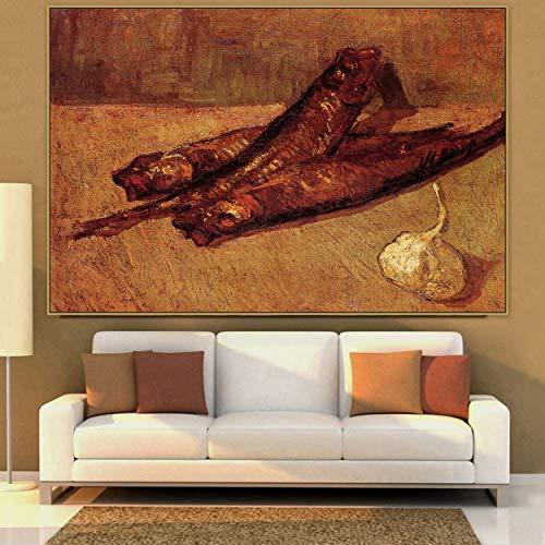 adgkitb canvas Van Gogh, Famoso Pintor Maestro, Pintura de bodegones con expansor y Lienzo de ajo para la decoracion de la habitacion, impresion de poster Mural, 75x110 cm SIN Marco