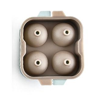 TAMUME Silicona Molde para Cubo de Hielo Reutilizable de 4 Caries, Fácil de Liberar Grado