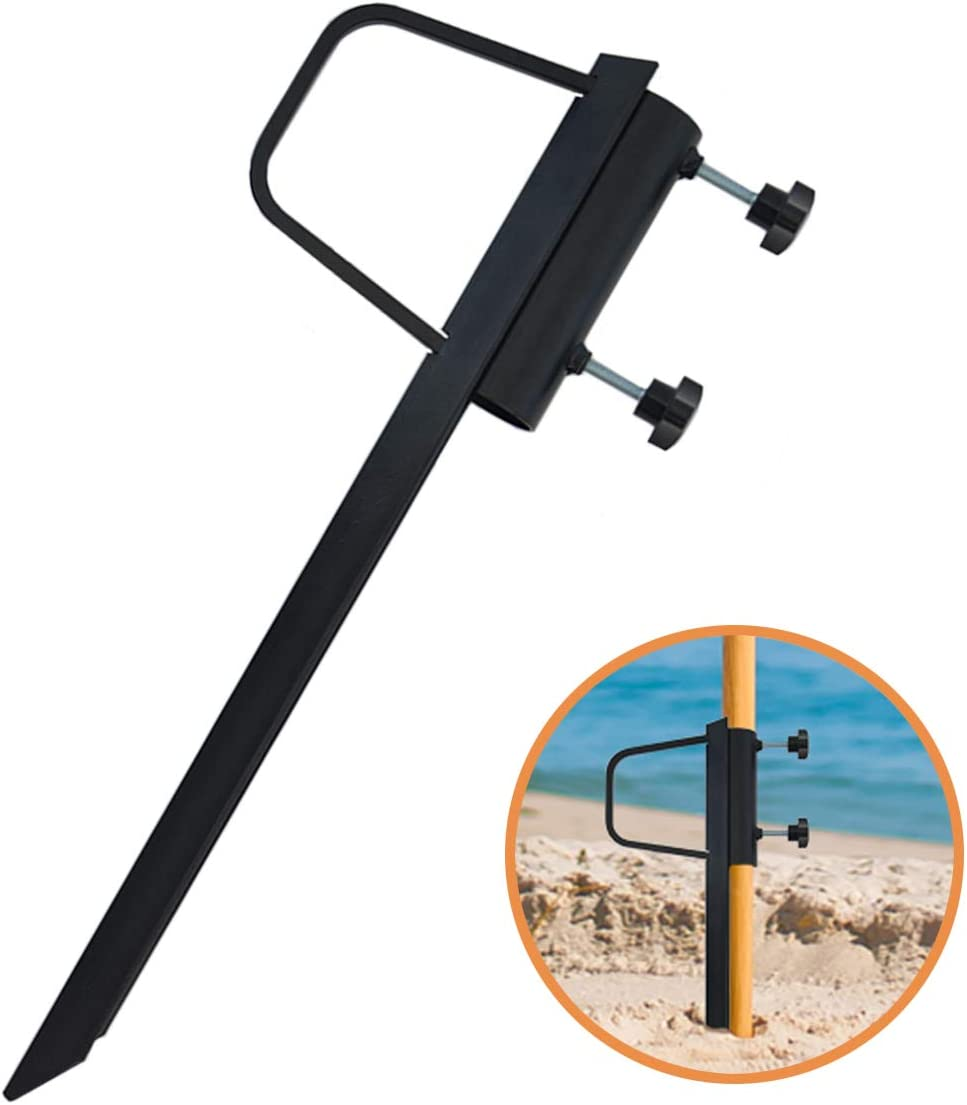 Foozet Outdoor Beach Umbrella Sand Anchor Stand Heavy Metal
