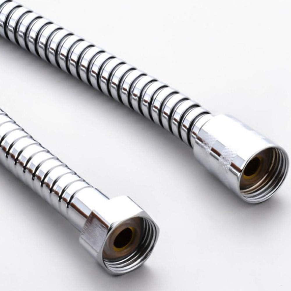 1,2 m // 1,4 m // 1,5 m // 2 m // 3 m // 4 m // 5 m flexibler Duschschlauch aus Edelstahl silberner Hochdruck-Bad-Sanit/ärschlauch Handbrause f/ür Badewanne.-1,2 m