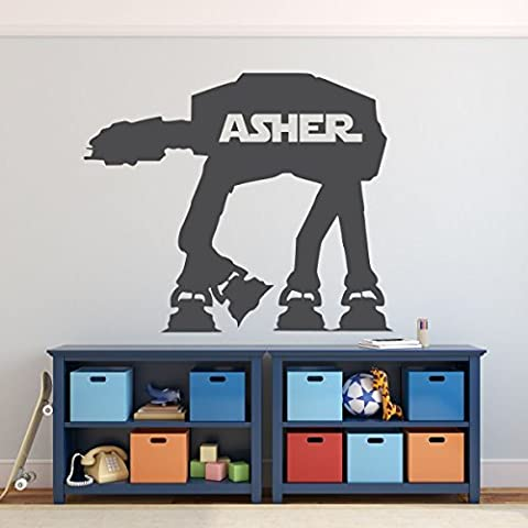 Star Wars Decals AT-AT Combat Walker Personalized Vinyl Wall Sticker for Boy's Room Decoration, Galactic Empire Ground Forces, Star Wars Themed Birthday - Lost Soles Vinyl