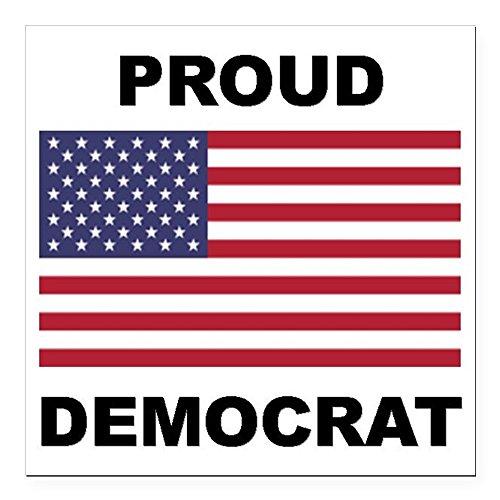 Democrat Magnet - CafePress - Democrat Pride (Flag) Square Car Magnet 3