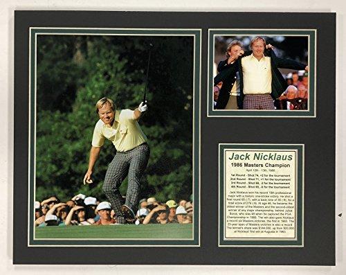 Legends Never Die Jack Nicklaus and Arnold Palmer Portrait Collage Photo Frame 11 x 14