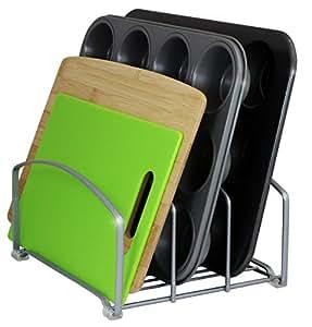 DecoBros Kitchen Houseware Organizer Pantry Rack, Silver