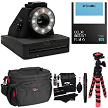 Impossible Project I-1 Analog Instant Camera, With Impossible PRD4514 Polaroid 600 and Instant Lab Color Film, Ritz Gear Deluxe DSLR Camera Bag, Flexi Tripod and Cleaning Kit