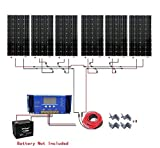 ECO-WORTHY 1000W Monocrystalline 24V Off Grid Solar Panel Kit: 6pcs 160W Mono Solar Panels+40A MPPT Controller+Solar Cable+MC4 Branch Connectors Pair+Z Bracket Mounts