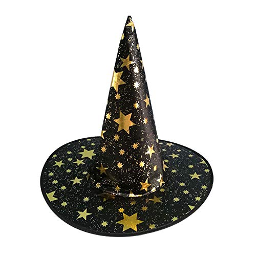 Party Diy Decorations - Halloween Witch Hat Costume Party Glitter Star Decoration Cospaly Costumes Prop Tb - Party Decorations Party Decorations Witch Halloween Shirt Magician Costum -