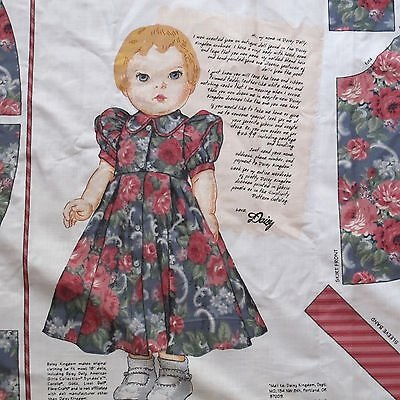Daisy Kingdom - Fabric Panel #3533 - Patsy's Attic Daisy Doll Dress - 18