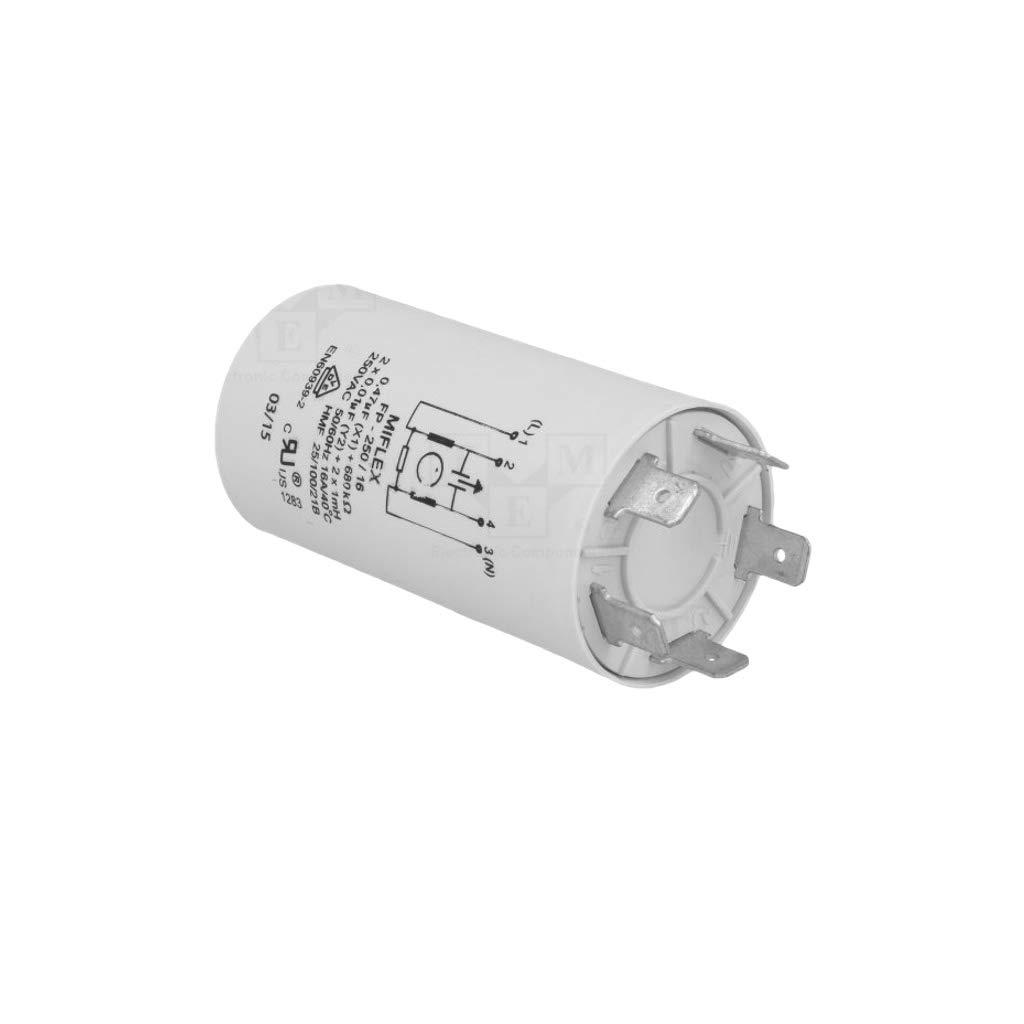 Motor Anti-St/örfilter 1mH 250VAC C=0,47uF Cy=10nF Miflex FP-250//16