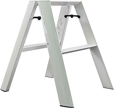QTPL Escalera de casa escalón Taburete Espiga Blanca Que Ahorra Espacio Pintura de Escalera Engrosamiento Adulto asciende (Color : Blanco): Amazon.es: Hogar