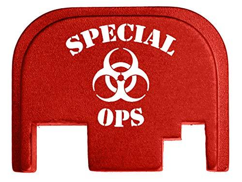 - for Glock Back Plate Gen 1-4 17 19 21 22 23 27 30 34 36 41 Red NDZ - Special Ops Biohazard