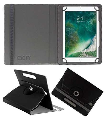 Acm Rotating Leather Flip Case Compatible with Apple Ipad 2017 9.7 Tablet Cover Stand Black
