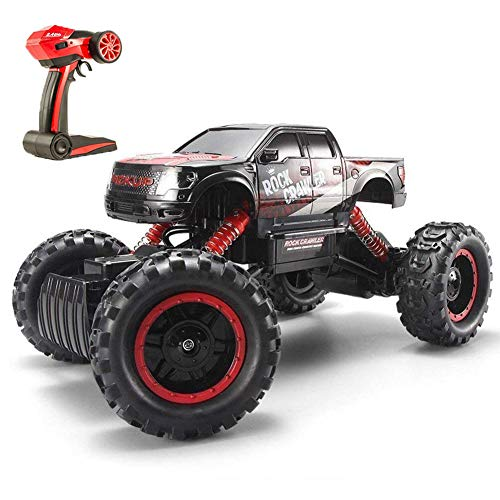 Tuptoel RC Cars Off Road Large Rock Crawler Truck Toy 4WD Dual Motors Rechargeable Remote Control Vehicle with Headlights for Kids Adults ()