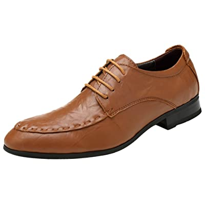 Abby 16181 Mens Dress Wedding Leisure Cozy Athletic Comfy Banquet Bussiness Lace Up Leather Shoes