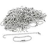 "100 Pcs 3.5"" Long 0.09"" Bead Dia Connector Clasp Ball Chain Keychain"