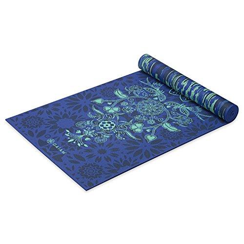 Gaiam Yoga Mat Premium Print Reversible Extra Thick Non Slip