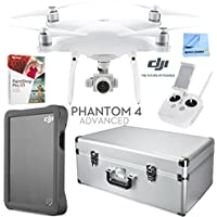 DJI Phantom 4 Advanced Quadcopter with Custom Case, 2TB Fly Drive Accessories Kit