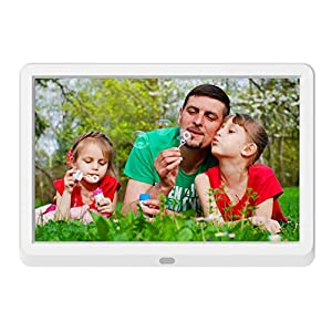 Digital Photo Frame 10 Inch with 32GB SD Card NAPATEK Digital Picture Frame 1920×1080 High Resolution 16:9 FHD IPS Screen Image Preview Video Calendar Clock Auto On/Off Timer Remote Control