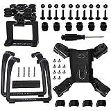 Action Camera Frame Gimbal Mount Adapter Bracket & Lengthen Landing Gear for Hubsan H501S X4 H501C Quadcopter, Black