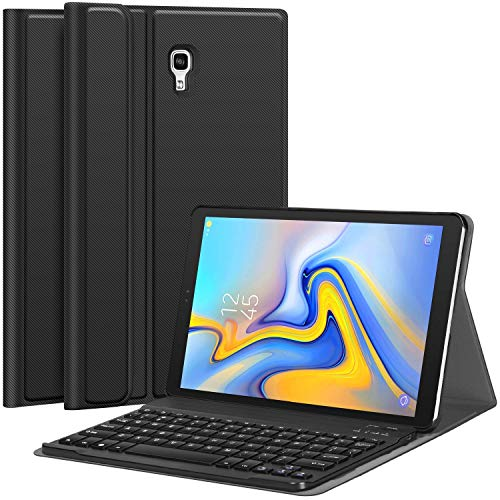 CHESONA Samsung Galaxy Tab A 10.5 Case with Keyboard, Detachable Wireless Keyboard PU Leather Slim Folio Stand Cover Case for Samsung Galaxy Tab A 10.5 Model SM-T590/T595 2018 Release Black