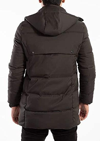xtsrkbg Mens Stand Collar Winter Thicken Padded Stand Collar Down Jacket