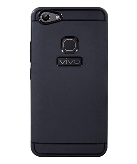 purchase cheap 144ac bd127 COVERNEW Rubber Soft Back Cover for Vivo Y81 - Black: Amazon.in ...