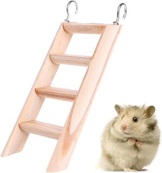 ATEZIEU Escalada Hamster Escalera Escalera de Madera de Juguete para morder Ratas Ratones Hámster jerbo Chinchilla cobayo de pequeños Animales de Jaula de Ardilla casa de Juguetes del Chew: Amazon.es: Productos para