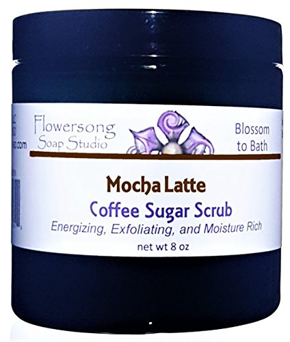 Flowersong Mocha Latte Coffee Sugar Scrub - Energizing, Exfoliating, and Moisture Rich -
