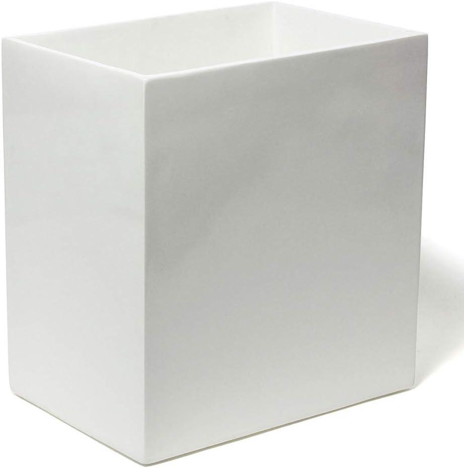 Jonathan Adler - Wastebasket - White Lacquer