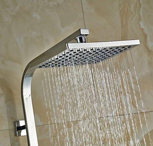 GOWE Bath Rainfall Shower Set Faucet Thermostatic Shower Chrome Polish Exposed 2