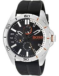 BOSS Orange Mens 1513290 berlin Analog Display Japanese Quartz Black Watch