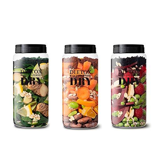 Dietox Dry Mix - 3 variedades de batidos de proteína vegana. Sustituivo de 9 comidas para adelgazar y perder peso. Shaker Incl.: Amazon.es: Salud y cuidado ...