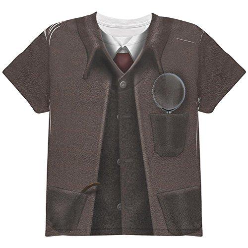 Halloween Sherlock Holmes Costume All Over Youth T Shirt Multi (Sherlock Holmes Halloween Costume)