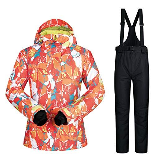 Para 05 Igspfbjn Invierno Y Mujer Conjunto Pantalones Nieve Esquí Capa Chaqueta De La Debajo UwPOBU