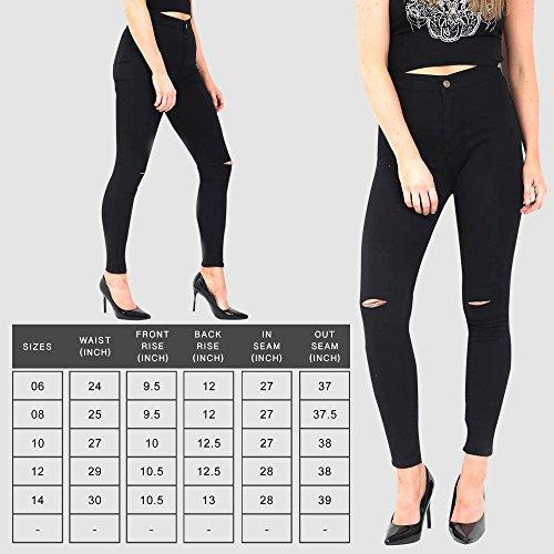 Black Knee Cut Xelay Donna Jeans Skinny 1qwxgTv