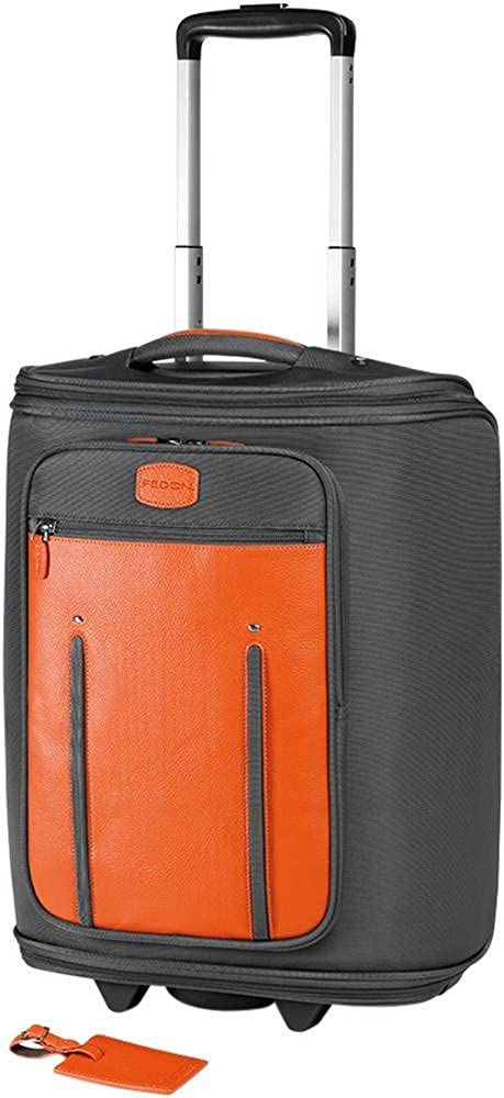 Orange Grey Travel Web Marco Polo Suitcase by Giorgio Fedon 1919   Amazon.co.uk  Clothing b09986608db