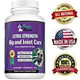 Glucosamine Chondroitin for Dogs with MSM – All Natural Hip and Joint Supplement – Improves Mobility & Hip Dysplasia – Dog Arthritis Pain – Joint Pain – Reduces Inflammation – 120 Beef Flavor Tablets