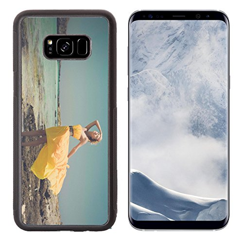 Liili Premium Samsung Galaxy S8 Plus Aluminum Backplate Bumper Snap Case IMAGE ID: 22578774 Fashion photo of beautiful lady in yellow dress on the - Fashion Miracle Store