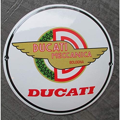 hotrodspirit mini plaque emaill/ée ducati meccanica moto tole email deco garage