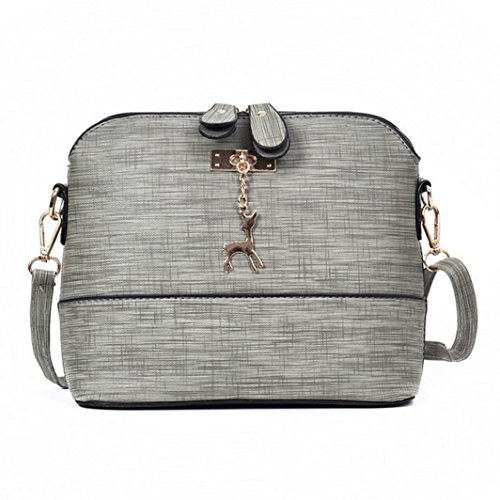 Crossbody Vintage Ladies Gray Women New Mini Bags Girls Shoulder Casual Leather Handbag Shell Messenger Packet Bags Small tn8nXq