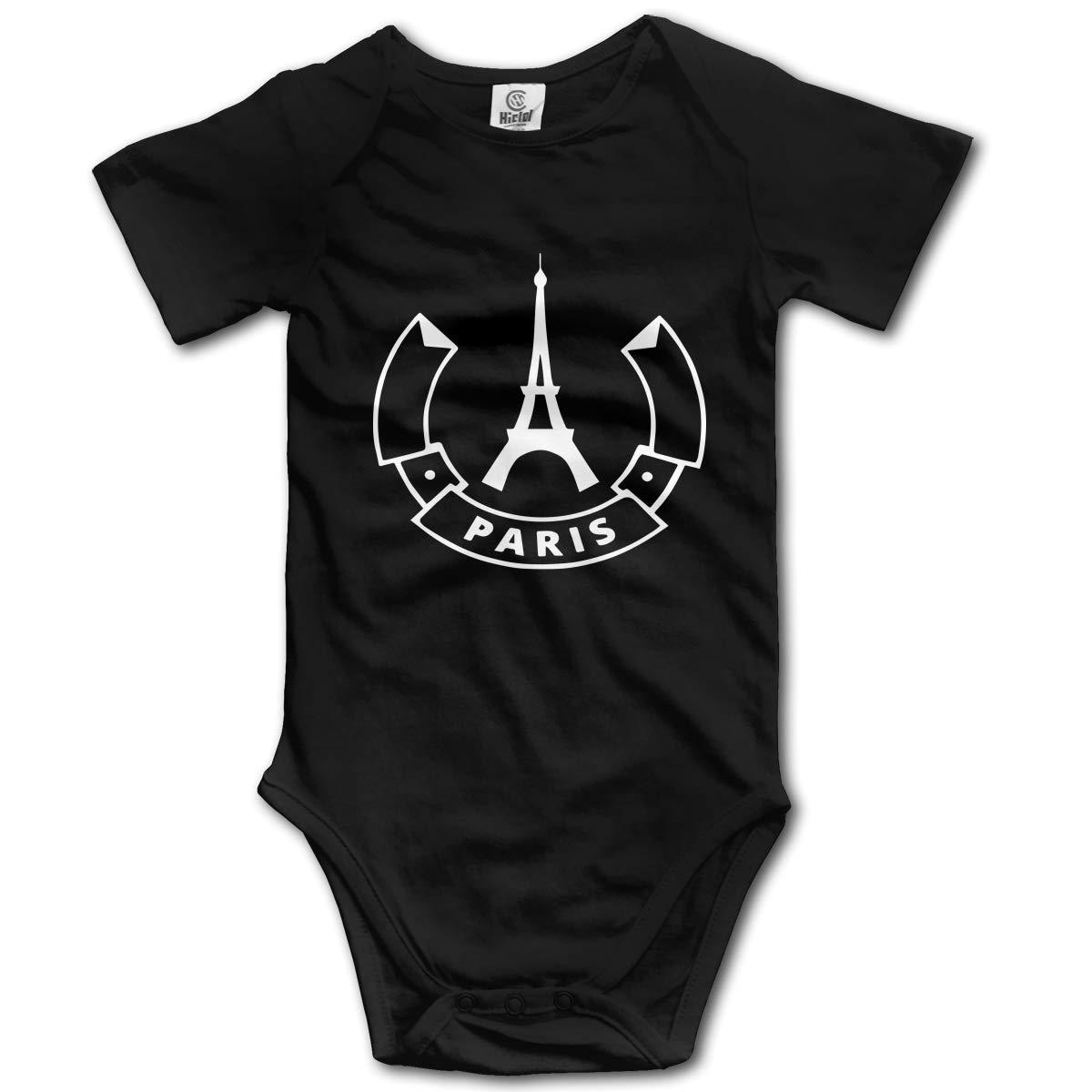 Newborn Paris 1 Short Sleeve Climbing Clothes Bodysuits Jumpsuit Suit 6-24 Months