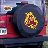 Arizona State Tire Cover with Sun Devils Logo on Black Vinyl Size: Universal Large - 31.25 x 11 Inch