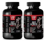 Libido enhancer for men fast acting - GET HARD PILLS (FOR MEN ONLY) - Yohimbine for sex - 2 Bottles 120 Capsules