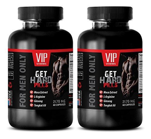 Libido enhancer for men fast acting - GET HARD PILLS (FOR MEN ONLY) - Yohimbine for sex - 2 Bottles 120 Capsules by G.E.T.