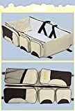Baby Travel Bag, Portable Crib Mattress, Baby Crib Folding Bed Baby Bassinet Diaper Bag
