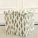 Folding Table and Chairs At Target Storage Stool Storage Stool Can Sit Adult Folding Chair Home Sofa Change Shoe Stool Finishing Box Box Fine Linen Printing Can Sit And Can Be Stored,C,30CM